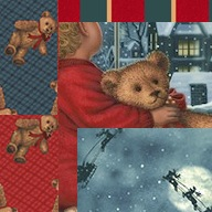Holiday Wallhangings - Teddy's Christmas Eve
