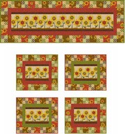 Sunflower Bouquet Runner & Placemats project - Angela Anderson