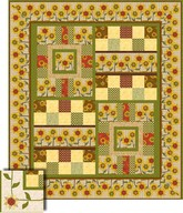 Sunflower Bouquet Quilt project - Angela Anderson